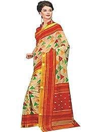 Design Willa Women's Cotton Jute Printed Saree With Blouse Piece DWshr002_Multicolour_Free Size