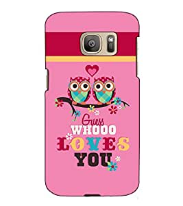 Fuson Designer Back Case Cover for Samsung Galaxy S7 :: Samsung Galaxy S7 Duos :: Samsung Galaxy S7 G930F G930 G930Fd (Guess who love you theme)