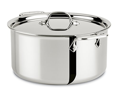 All Clad 4508 Stewing Pan 7.6 L 26.7 cm Stainless Steel Meat and Vegetable Pot with Lid