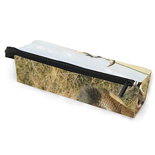Pencil Bag Case Sonnenbrille Kuh auf Wiese mit Gras Kosmetik Studenten Briefpapier Beutel Reißverschluss für Mädchen