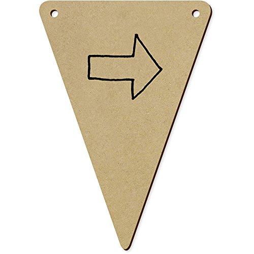 Azeeda 5 x 140mm 'Flèche Droite' Fanions Triangles en Bois (BN00030327)