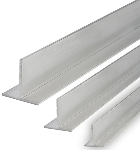 Aluminium T-Profil Schiene Walzblankes Alu Profil 40x40x3mm 2000mm