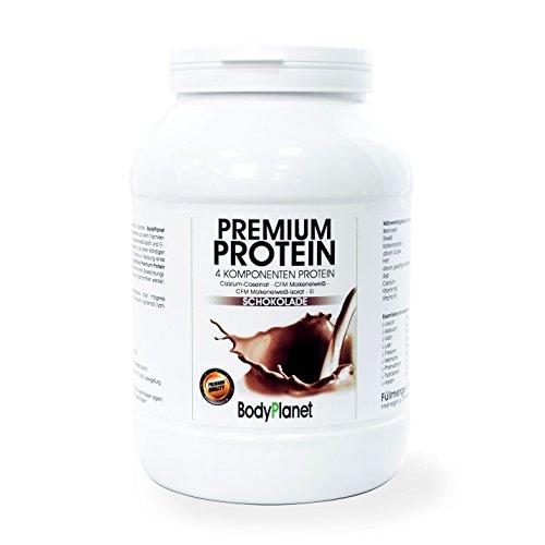 Bodyplanet Premium Protein (Vanille 750g) ->Mehrkomponenten Eiweiß aus CFM Whey, CFM Isolat, Calzium Caseinat und Ei Protein/ für Muskelaufbau und Abnehmen/Low Carb Low Fat/ Made in Germany