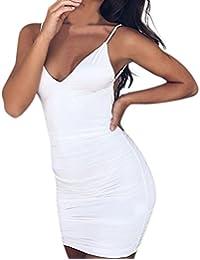 FORH Mode Damen Off Schulter Langarm Pullover Kleid Reizvolle Schulterfrei  Bodycon Elegant Stretch Kleid Casual… 2ee1dae1fd