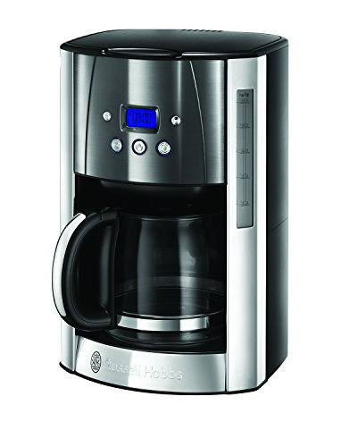 Russell Hobbs 23241-56 Digitale Glas-Kaffeemaschine Luna Moonlight Grey, 1.8l,...