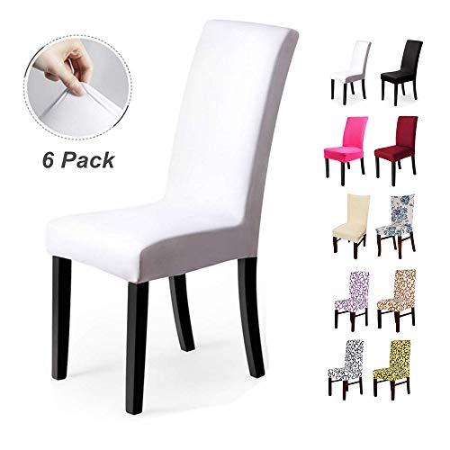 Koobea 6 coprisedie con schienale elasticizzato universale copri sedie sala da pranzo.