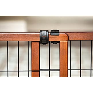 Carlson Pet Products Design Studio Freestanding Wood Pet Gate, Extra Tall/Extra Wide 410bvMQTTmL
