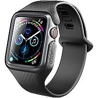 Clayco Apple Watch 4 Armband 44mm [Hera] Slim Apple Watch Band iWatch Schutz Stoßfest Ersatzarmband Case Robust Hülle für Apple Watch Series 4 (44mm) 2018 Ausgabe (Schwarz)