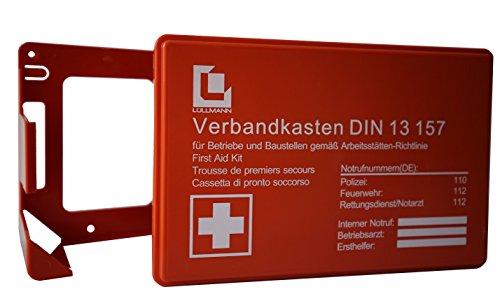 Verbandkasten Erste Hilfe DIN 13157 Verbandkasten + Halter orange 620150