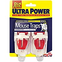 The Big Cheese Ultra Power Mouse Traps (Ready Baited, Easy to Set, Twin Pack)