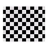 "CafePress - BLACK AND WHITE Checkered Pattern - Soft Fleece Throw Blanket, 50""x60"" Stadium Blanket"