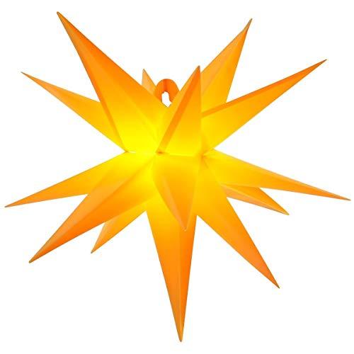 LED - Adventsstern für außen 55cm Komplettset Gartenstern 3D- Weihnachtsstern Außenstern Faltstern gelb - orange