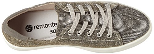 Remonte R7800, Scarpe da Ginnastica Basse Donna Oro (Gold-silver/staub/90)