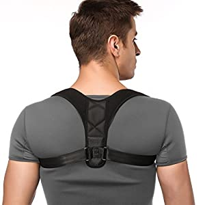 iDeporte Posture Corrector Posture support Brace Adjustable Straight Strap for Men and Women Back, Shoulder, and Neck Pain Relief (Size XL 40-53 in)