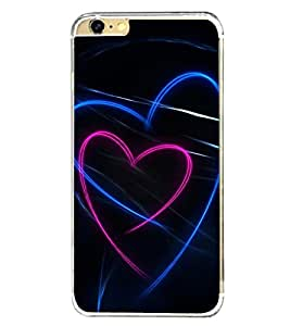 Hearts 2D Hard Polycarbonate Designer Back Case Cover for Apple iPhone 6
