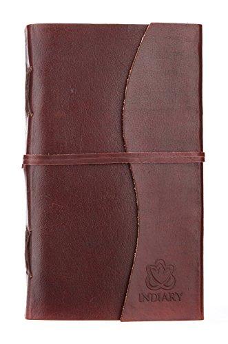 Unikat das besondere INDIARY Luxusnotizbuch aus Büffelleder und handgeschöpftem Papier - Big...