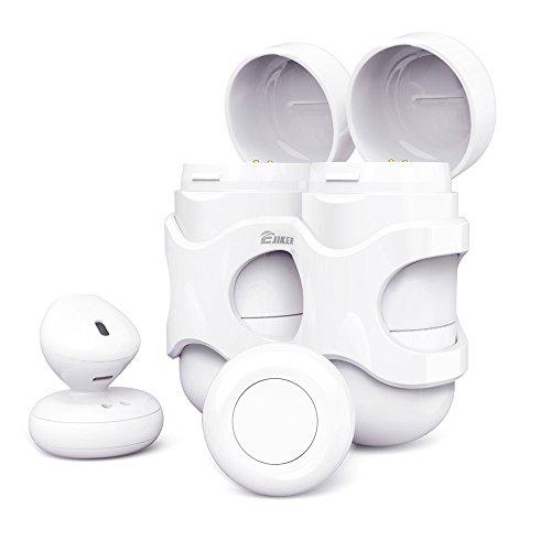 Mini Bluetooth Kopfhörer Kabellose, EJIKER True Wireless Kopfhörer in ear Mit Ladestation Ohne kabel Sport headset Dual Stereo Geräuschunterdrückung CSR6.0 ,Schnurlose Headset Bluetooth ohrhörer V4.2 für iPhone Samsung iPad Android(weiss)