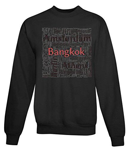 Billion Group | Capital Cities Cloud Bankok | City Collection | Women's Unisex Sweatshirt Noir