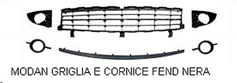 Kit grille pare-chocs avant inférieur avec moulure noire Scenic depuis 11/2006à 02/2009(6pièces)