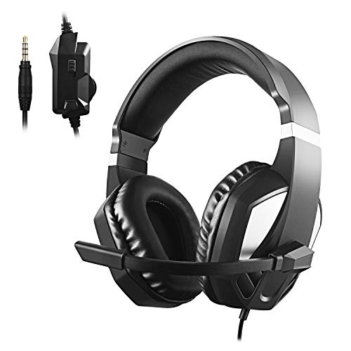 Diswoe Auricular Gaming Headset para Xbox One PS4-3.5mm con Cable Over-Head c2a24096ab6e