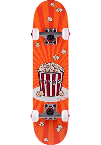 TITUS Skateboards-Complete Popcorn Micro Kids, orange, 6.5