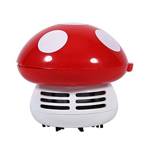Mini Aspirateur pour Bureau Table Clavier en Forme de Champignon 5 Couleurs Optionnelles (Rouge)