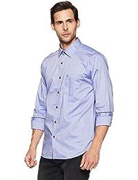 Park Avenue Men's Solid Slim Fit Cotton Casual Shirt