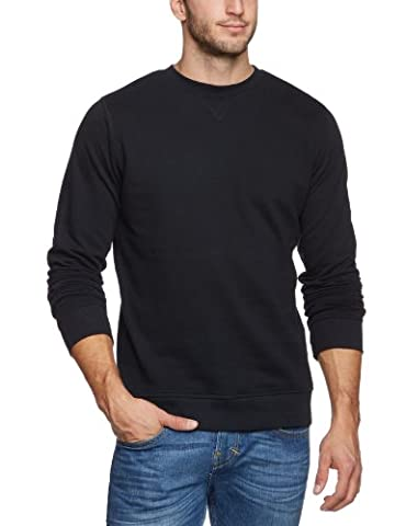 Dickies Men's Washington Plain Long Sleeve Sweatshirt, Black, Large