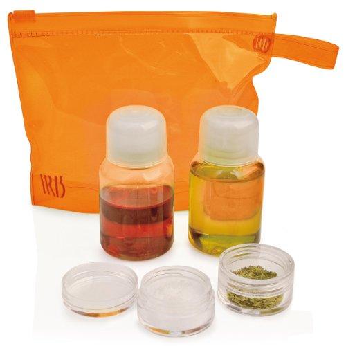 Iris Barcelona Set Condimento, Olio & Aceto, Sacchetto, Arancione, 2986-PN - Arancione Tappo Di Bottiglia
