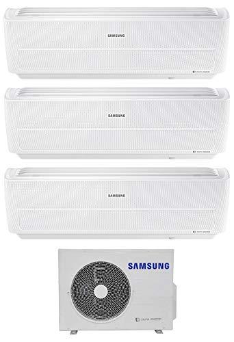 Samsung, Serie Windfree Evo - Climatizzatore 7000+9000+12000 Btu, Trial Split Inverter, Classe A+++/A+, Gas, R32