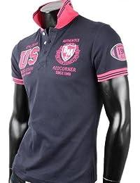 Herren Poloshirt T-Shirt Shirt 100% Baumwolle US Tanktop Tank top T shirt Body