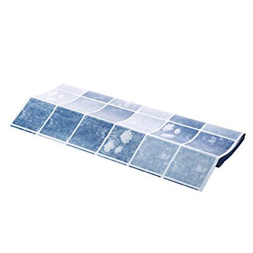 weituoli Papergluestick Autocollant Fond D'Écran De Suie Autocollants Restauration Salle De Bains Bleu Clair Étanche