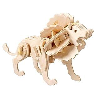 Innova® - Puzzle de Madera 3D con diseño de león pequeño para modelar, Juguete de Madera