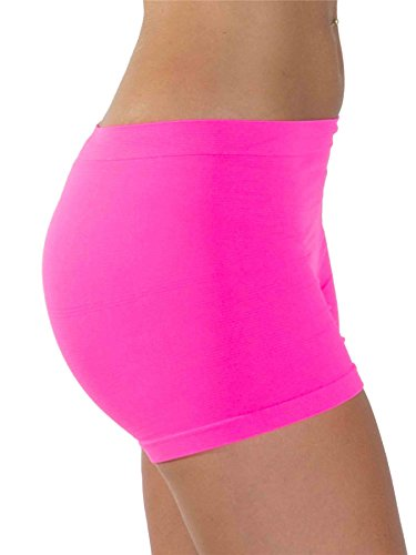 488c84f22647 Love My Fashions® Womens Underwear Plain High Waist Ladies Seamless Stretch  Boxer Shorts S M L Xl