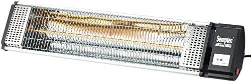 Semptec Urban Survival Technology Semptec Terassenheizstrahler: IR-Heizstrahler mit Goldröhre RA-15.gl inkl. FB, 1.500 W, IP24 (Elektrischer Heizstrahler)