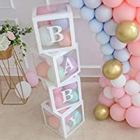 Baby Shower Decorations for Girl Balloon Box, Transparent Balloon Decorations Boxes for Baby First Birthday Party Decorations, Girls Birthday Party Decorations, Home Decor, Baby Girl Favors