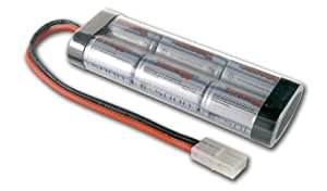 Tenergy 7.2V, 5000Mah Flat Nimh High Power Battery Packs with Tamiya Connector for RC Cars 136x47.5x24.5mm (11228)
