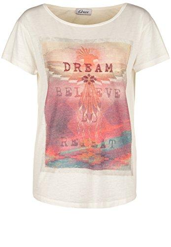 Grace -  T-shirt - Basic - Maniche corte  - Donna bianco L
