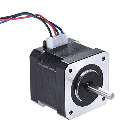 Aibecy 5Pcs Schrittmotor für 3D Drucker, Nema 17 Stepper Motor Fahren Steuern, 2 Phase 1.8 Grad 0.9A 0.4N.M 42mm mit Führen Kabel CNC Zubehör Ersatz