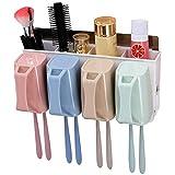 DKFS Wand-Zahnbürstenhalter Zahnbürstenhalter Für Vier Mundspülungen