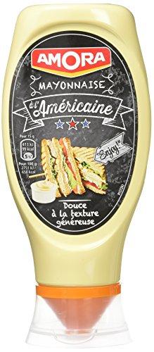 AMORA Mayonnaise à l'Américaine 408 g - Lot de 4