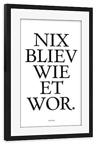 artboxONE Poster mit Rahmen 30x20 cm Typografie Städte Städte /
