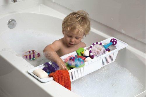 Baby Dan 4085-00-85 - Cesto portaoggetti per vasca da bagno, colore: Bianco