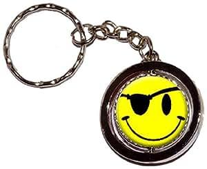 Smile Smiley Face–Pirate Clé chaîne porte-clés Anneau