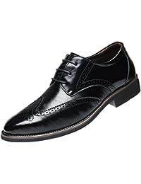 Logobeing Zapatos Oxford Cómodos Casual Estilo Clásico - Zapatos a Prueba de Viento Huecos Transpirables para