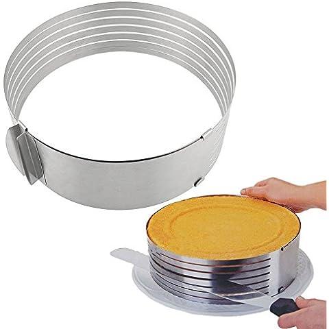 Edealing 1 PC Multi-Layer Cake cortador Anillo Slicer Hornear Cocina Suministros Pasteles fiesta de cumpleaños