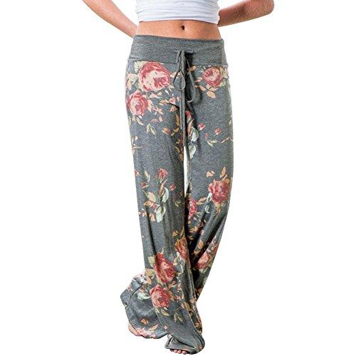 Leepus Pantaloni Lunghi Allentati Autunnali da Donna africani Pantaloni Larghi a Vita Alta con Stampa Dashiki Pantaloni Casual di Base
