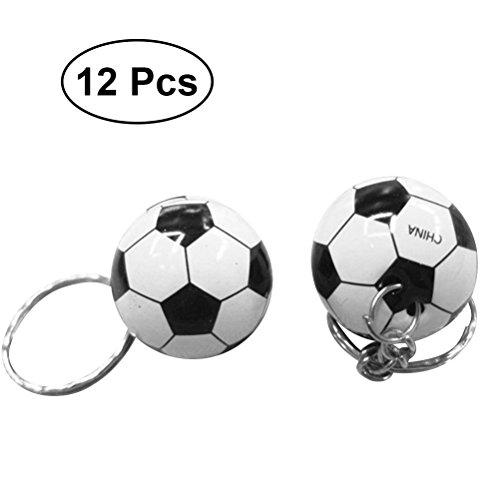 TOYMYTOY Fußball Ball Schlüsselanhänger Sport Ball Schlüsselanhänger für Kids Party Favors 12st