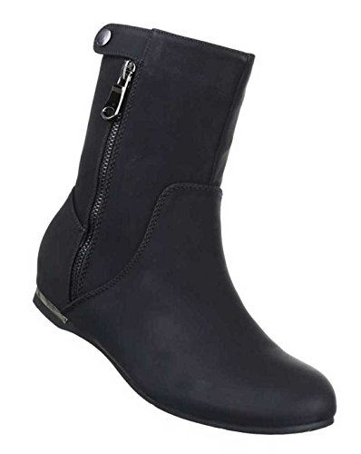 Damen Schuhe Stiefeletten Schnür Boots Used Optik Bordeaux 41 RIz5BYxC