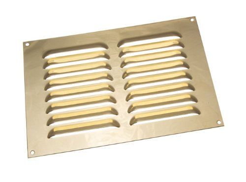 3 aus poliertem Messing Louvre Grille Vent Belüftung Cover 9 X 6 Zoll